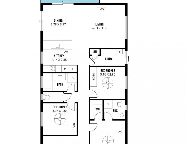 46 Atlantis Avenue, Seaford Meadows SA 5169 Floorplan