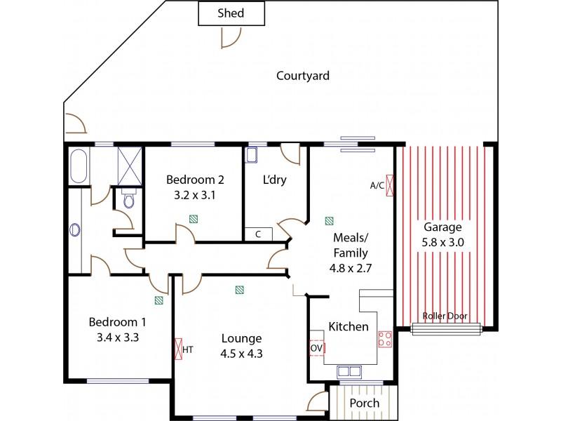 1/ 23 Urlwin Road, Salisbury SA 5108 Floorplan