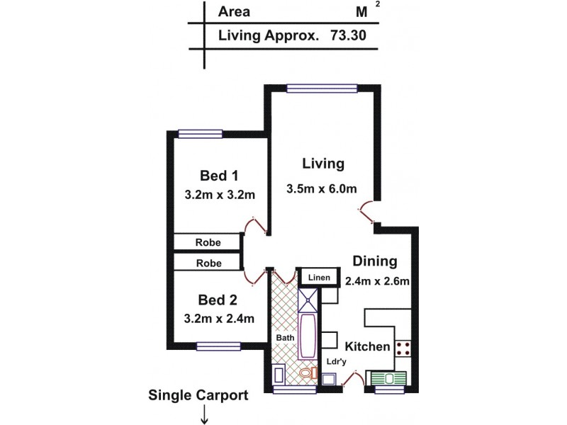 6/41 Burton Road, Salisbury SA 5108 Floorplan
