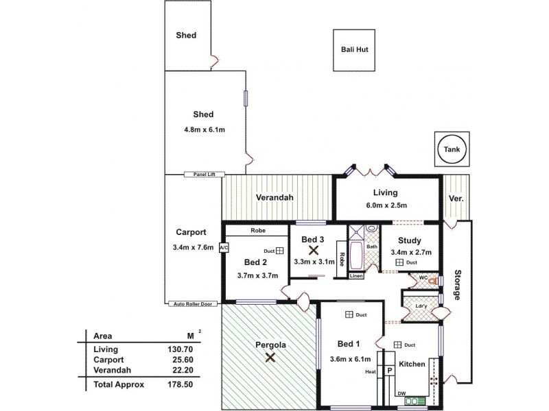 13 Belinda Crescent, Salisbury North SA 5108 Floorplan