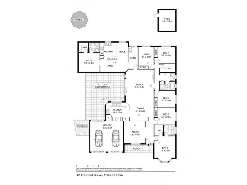 42 Crawford Grove, Andrews Farm SA 5114 Floorplan