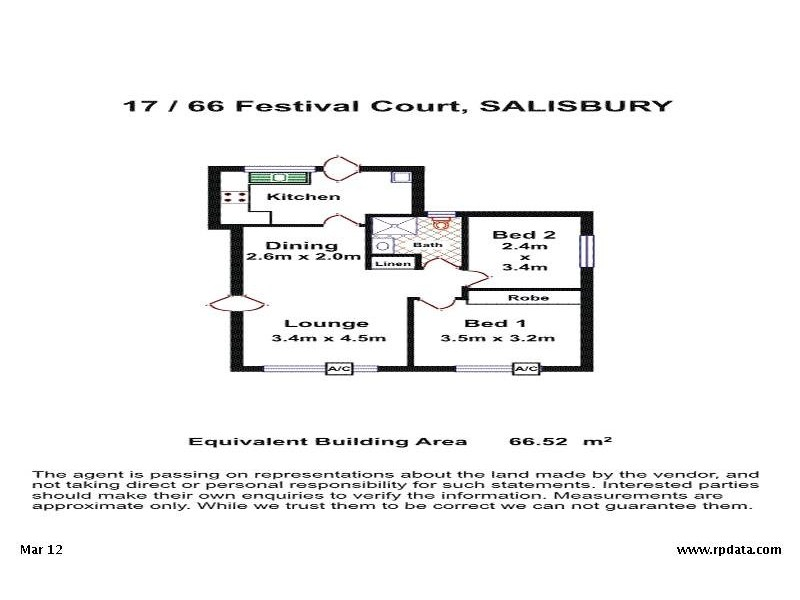 17/66 Festival Court, Salisbury SA 5108 Floorplan