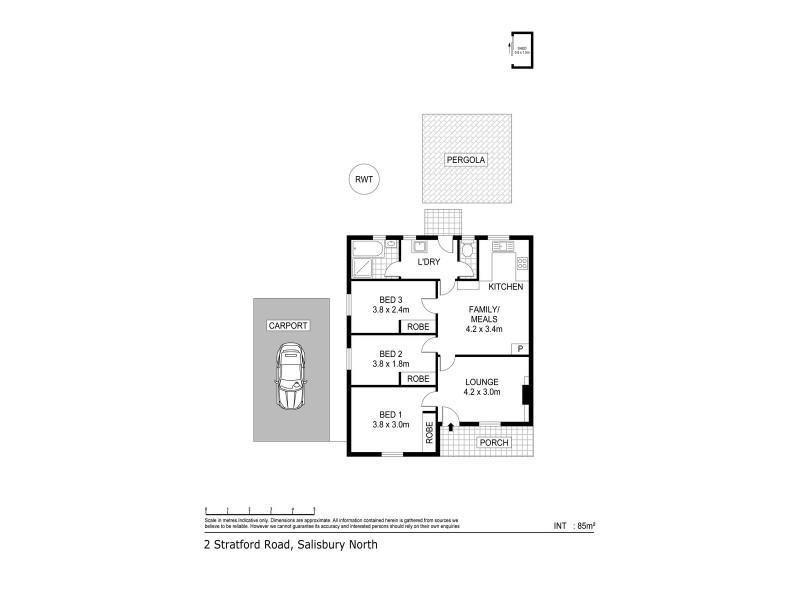 2 Stratford Road, Salisbury North SA 5108 Floorplan