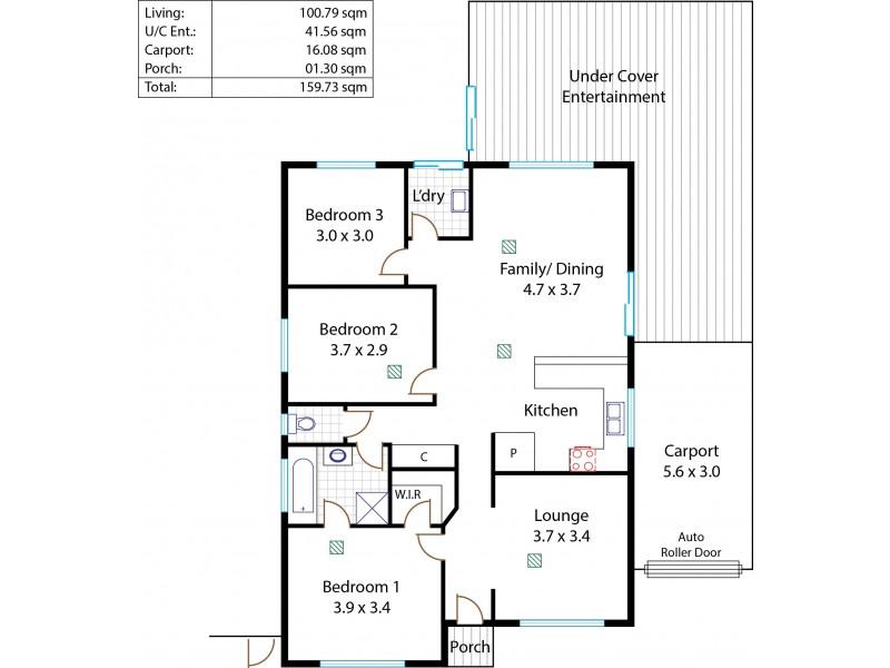 1B Bingham Road, Salisbury North SA 5108 Floorplan