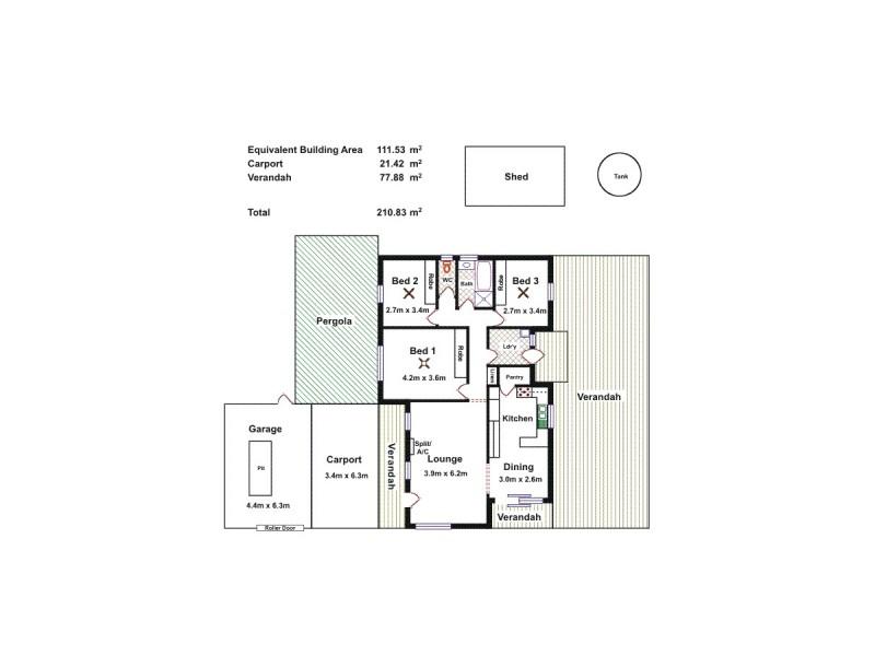 8 Minyara Ave, Salisbury North SA 5108 Floorplan