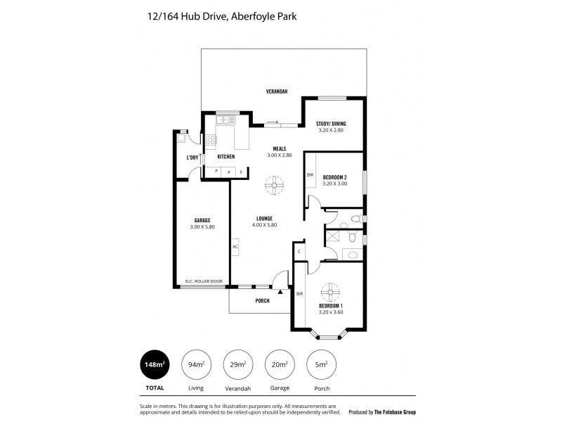 12/164 HUB DRIVE, Aberfoyle Park SA 5159 Floorplan