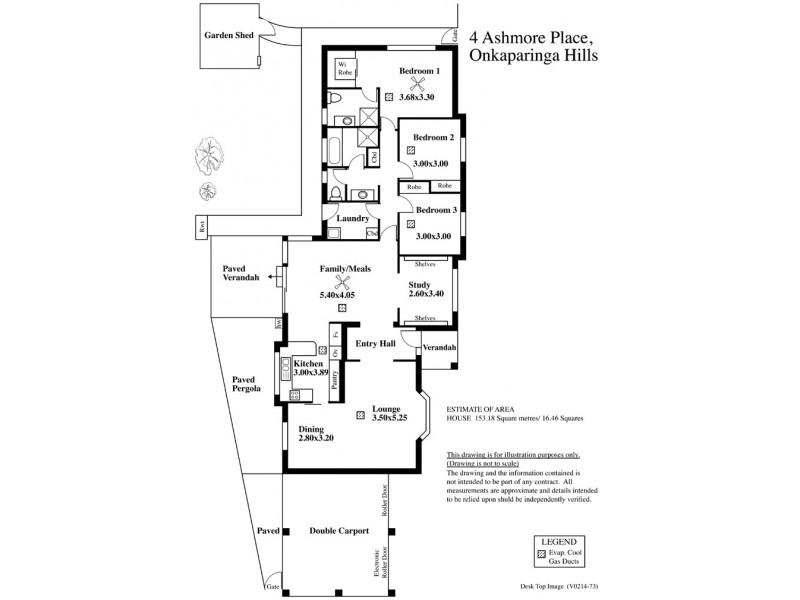 4 Ashmore Place, Onkaparinga Hills SA 5163 Floorplan