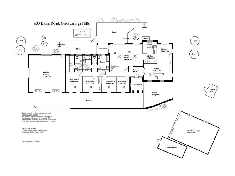 633 Bains Road, Onkaparinga Hills SA 5163 Floorplan