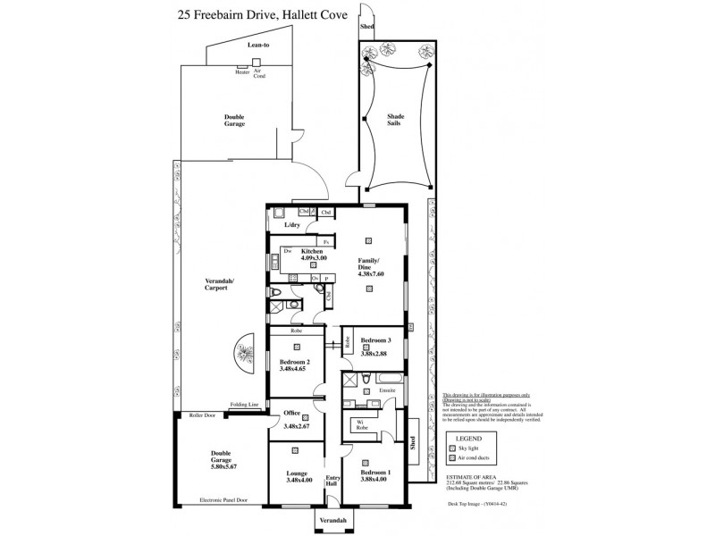 25 Freebairn Drive, Hallett Cove SA 5158 Floorplan
