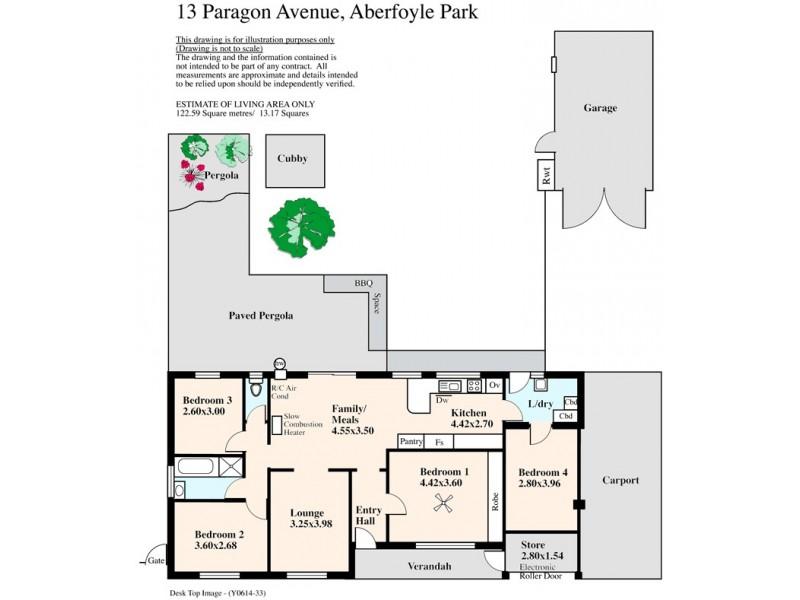 13 Paragon Avenue, Aberfoyle Park SA 5159 Floorplan