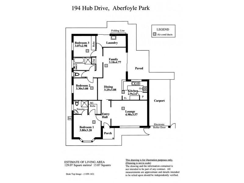 194 Hub Drive, Aberfoyle Park SA 5159 Floorplan