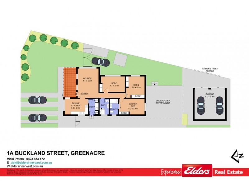 1A Buckland Street, Greenacre NSW 2190 Floorplan