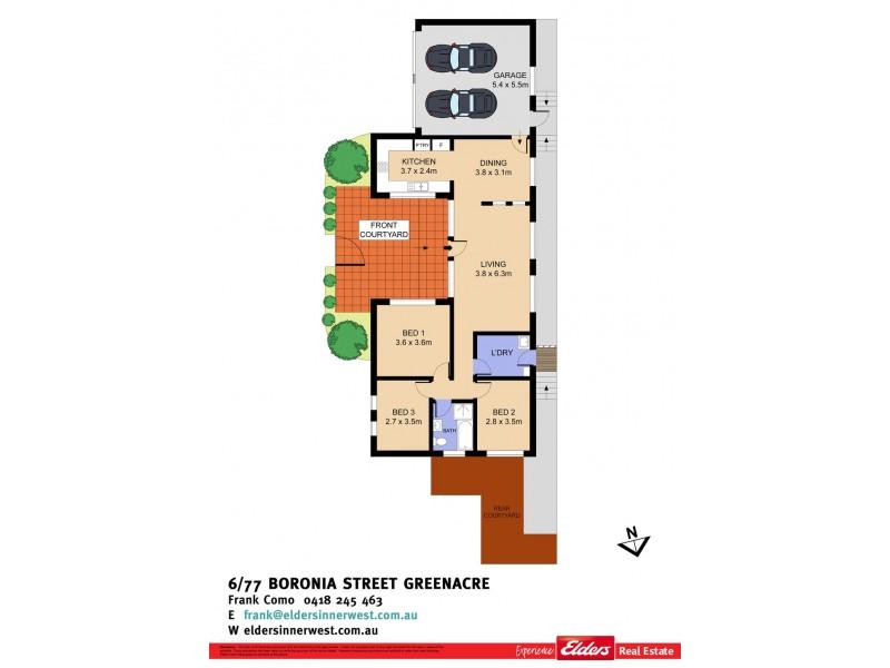 6/77 Boronia Road, Greenacre NSW 2190 Floorplan