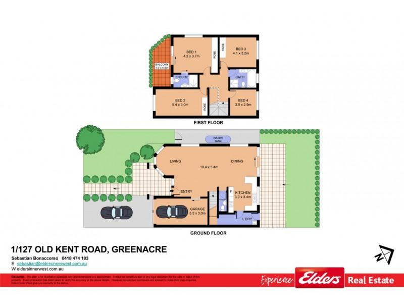 1/127 Old Kent Road, Greenacre NSW 2190 Floorplan