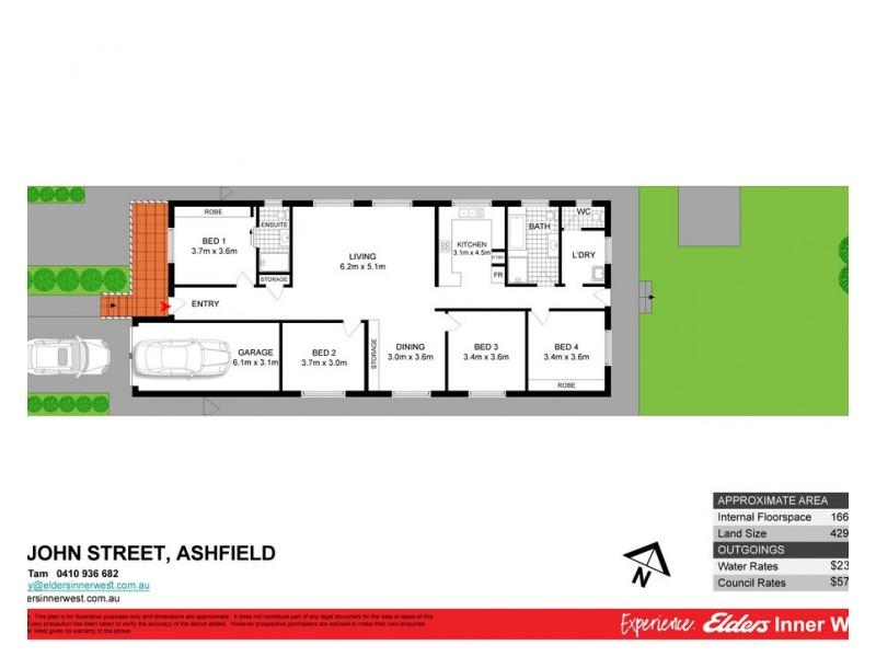19 John Street, Ashfield NSW 2131 Floorplan