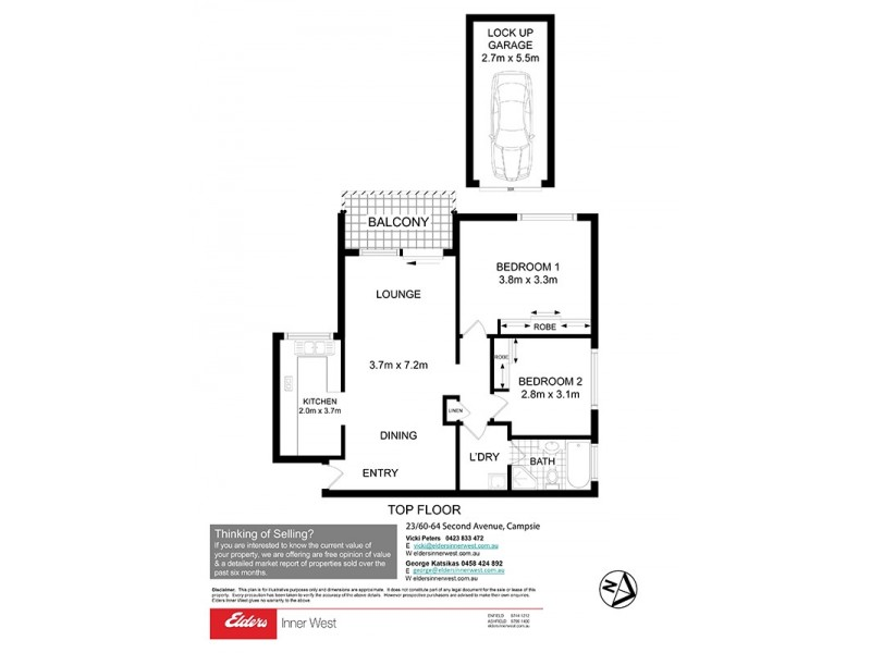 23/60 Second Avenue, Campsie NSW 2194 Floorplan