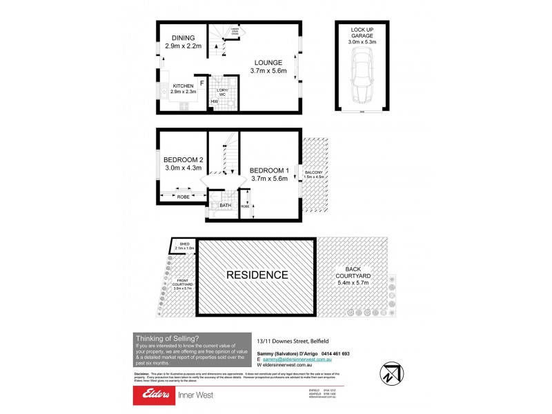 13/11 Downes Street, Belfield NSW 2191 Floorplan