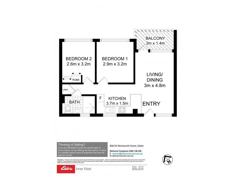 806/34 Wentworth Street, Glebe NSW 2037 Floorplan