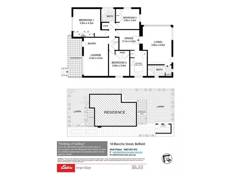 18 Blanche Street, Belfield NSW 2191 Floorplan