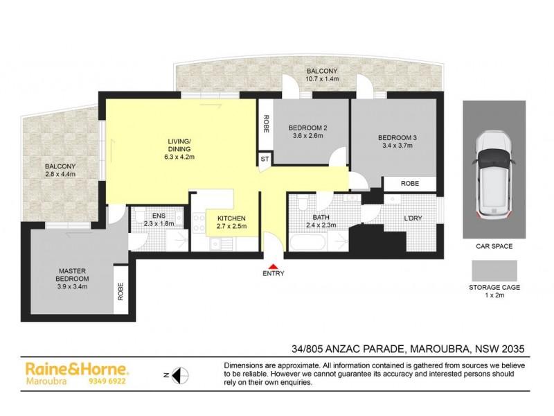 34/805 ANZAC PARADE, Maroubra NSW 2035 Floorplan