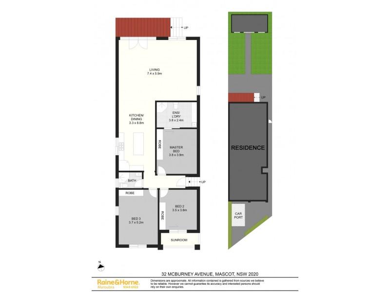 32 McBurney Avenue, Mascot NSW 2020 Floorplan