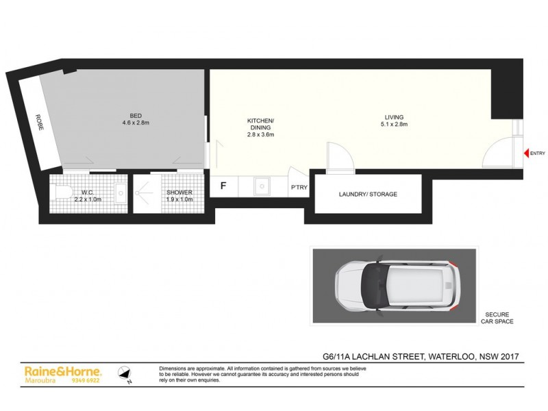 6G/11A LACHLAN STREET, Waterloo NSW 2017 Floorplan