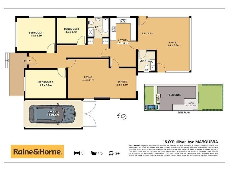 15 O'Sullivan Avenue, Maroubra NSW 2035 Floorplan