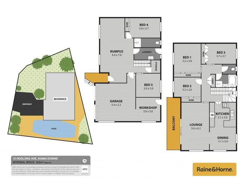 12 Hoolong Avenue, Kiama Downs NSW 2533 Floorplan