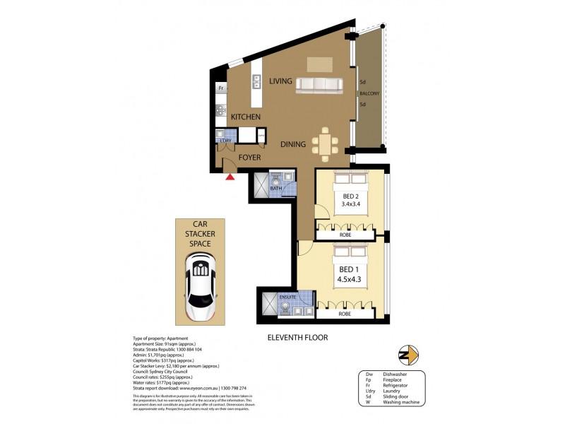 1101/11-15 Alberta Street, Sydney NSW 2000 Floorplan