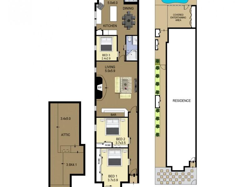 16 Elsmere Street, Kensington NSW 2033 Floorplan