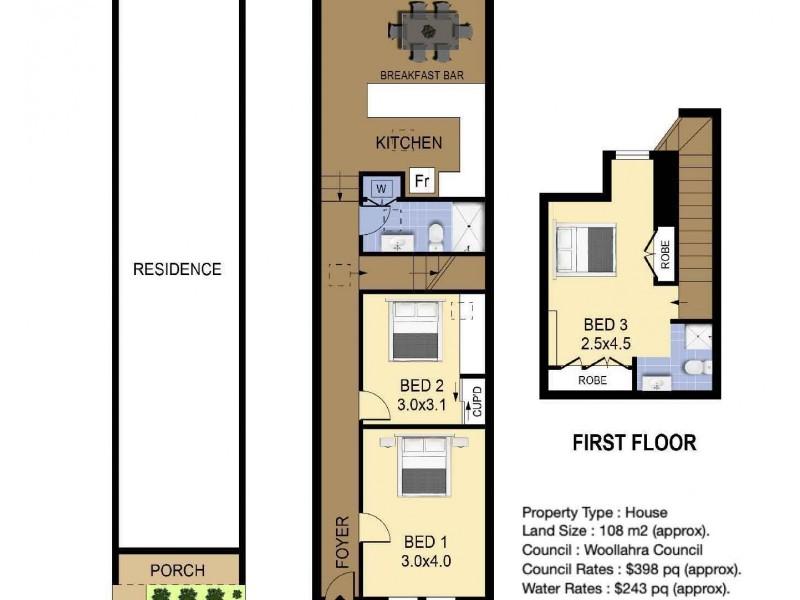 36 Caledonia Street, Paddington NSW 2021 Floorplan