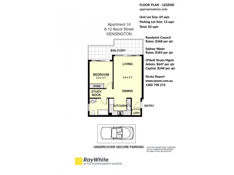 16/8-12 Ascot Street, Kensington NSW 2033 Floorplan