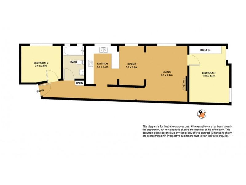 1/167 Victoria Road, Bellevue Hill NSW 2023 Floorplan