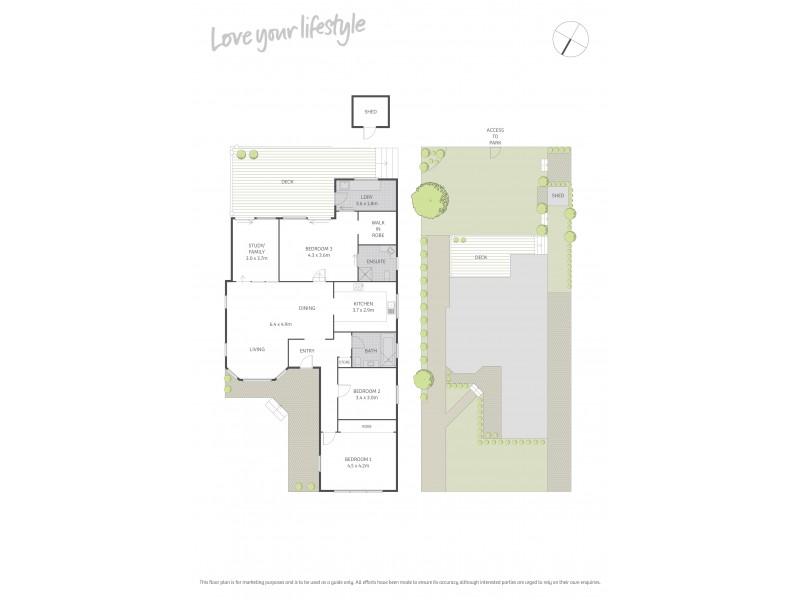 3 Walker Avenue, Peakhurst NSW 2210 Floorplan