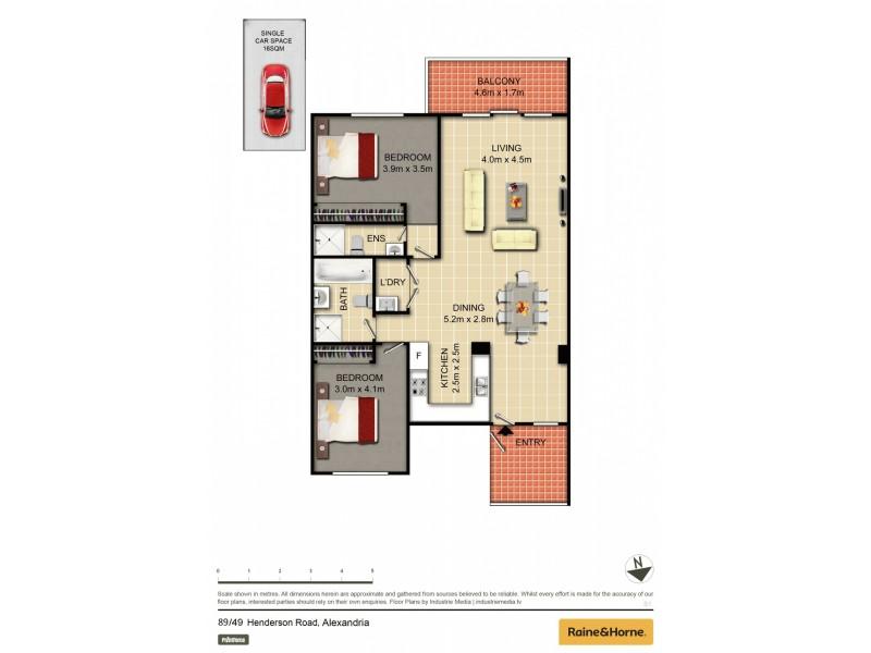 89/49 Henderson Road, Alexandria NSW 2015 Floorplan