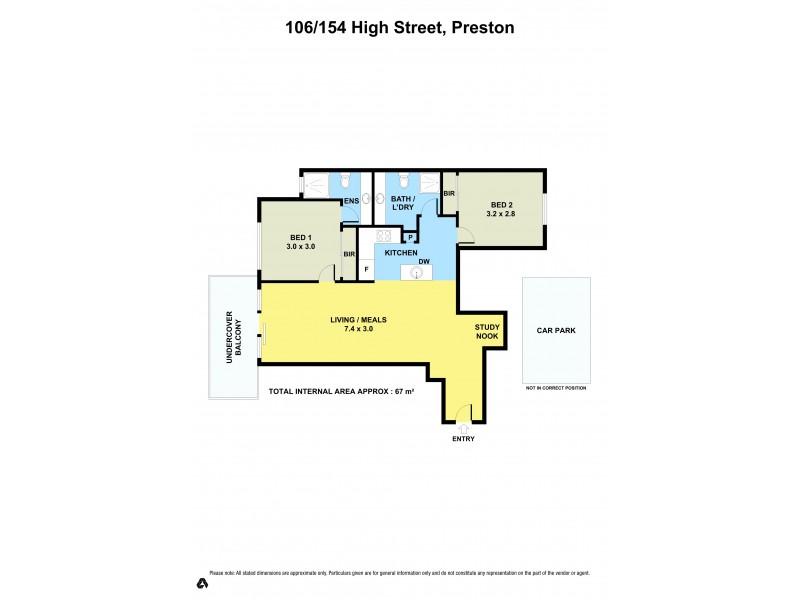 106/154 High Street, Preston VIC 3072 Floorplan