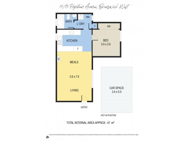 17/13 Hopetoun Avenue, Brunswick West VIC 3055 Floorplan