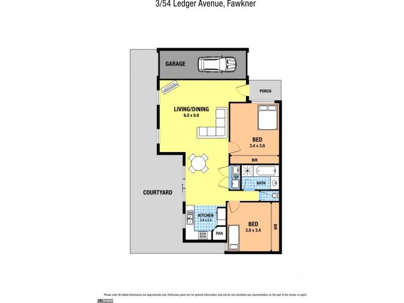 3/54 Ledger Avenue, Fawkner VIC 3060 Floorplan
