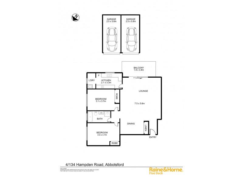 4 / 134 HAMPDEN ROAD, Abbotsford NSW 2046 Floorplan