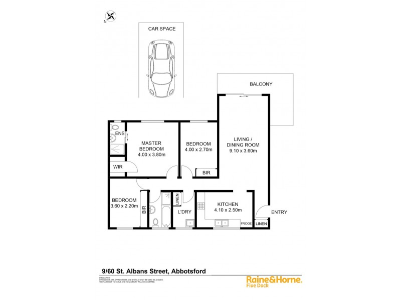 9/60 ST ALBANS STREET, Abbotsford NSW 2046 Floorplan