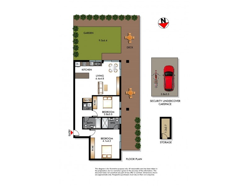1/8-10 Burge Street, Vaucluse NSW 2030 Floorplan