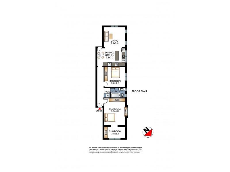 2/279 O'Sullivan Road, Bellevue Hill NSW 2023 Floorplan