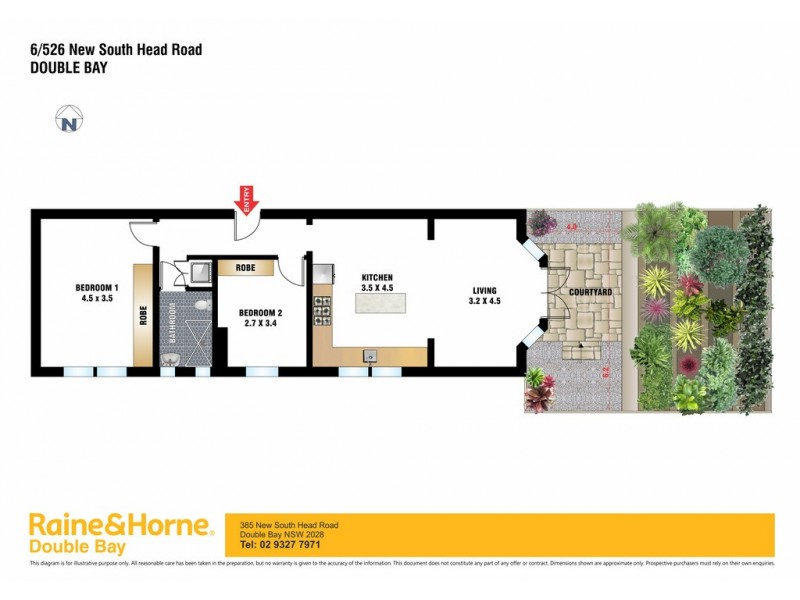 6/526 New South Head Road, Double Bay NSW 2028 Floorplan