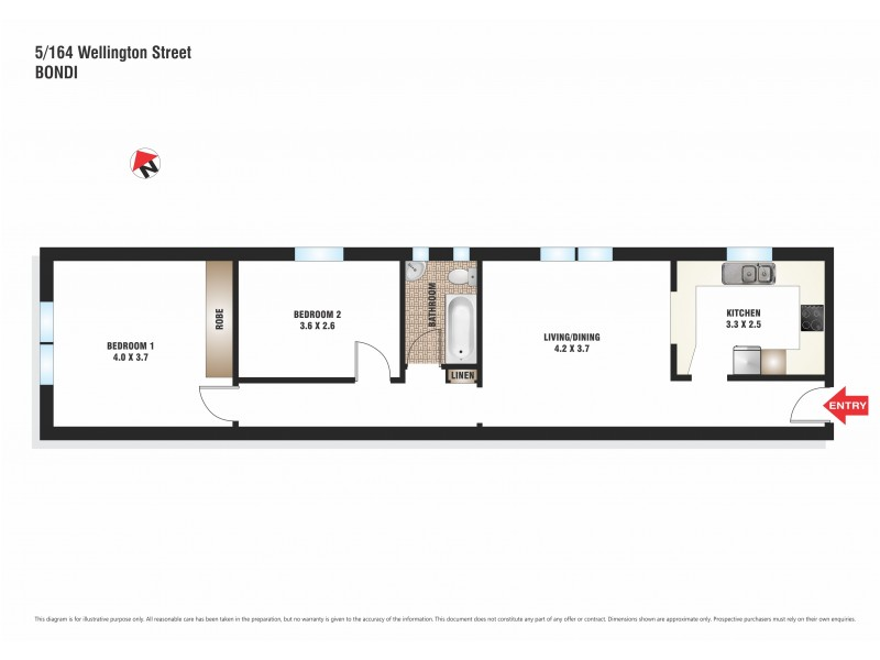 5/164 Wellington Street, Bondi Beach NSW 2026 Floorplan
