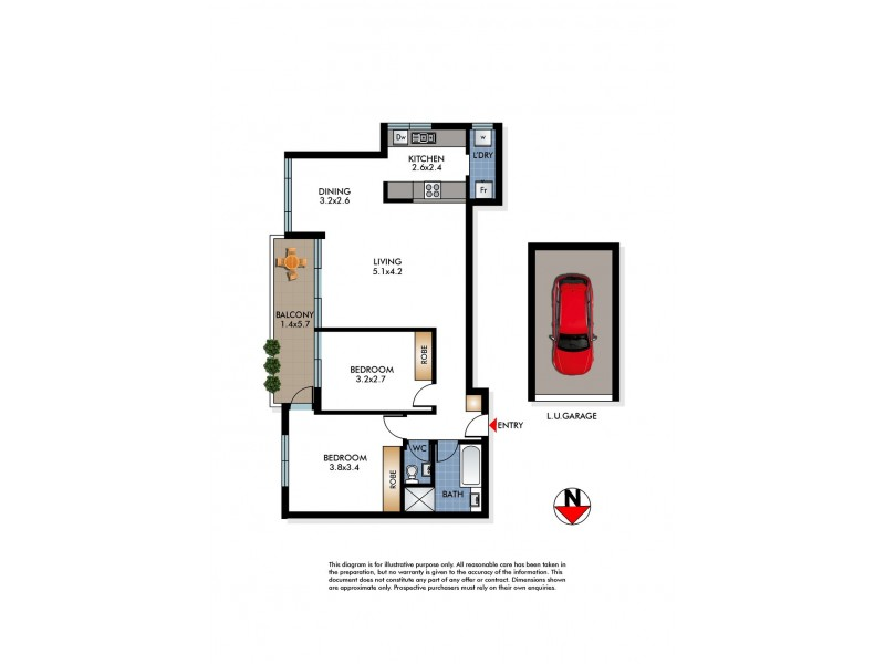 23/315 Bondi Road, Bondi NSW 2026 Floorplan