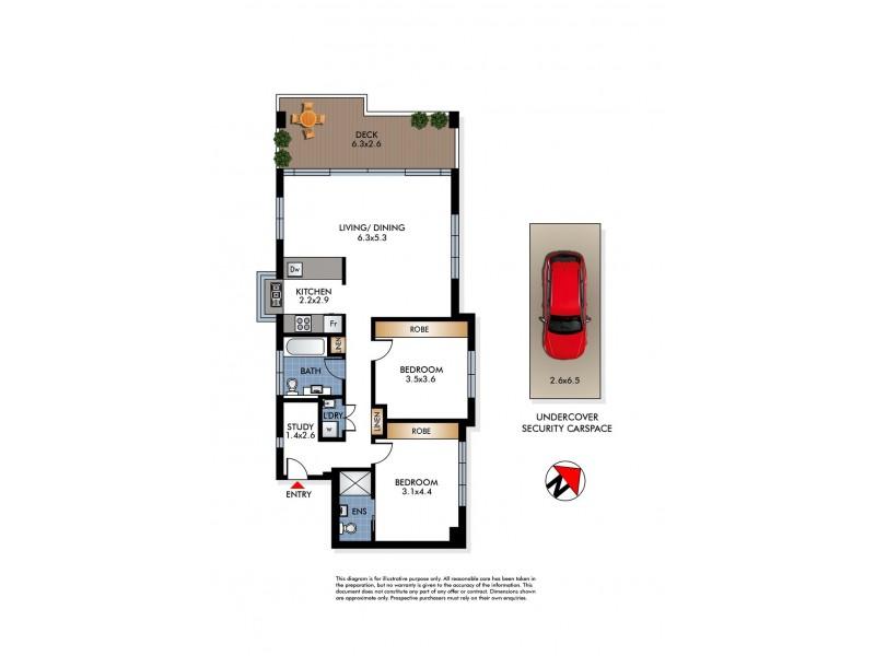 3/6 Military Road, North Bondi NSW 2026 Floorplan