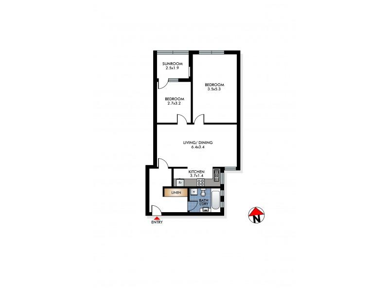 8/28A Imperial Avenue, Bondi NSW 2026 Floorplan