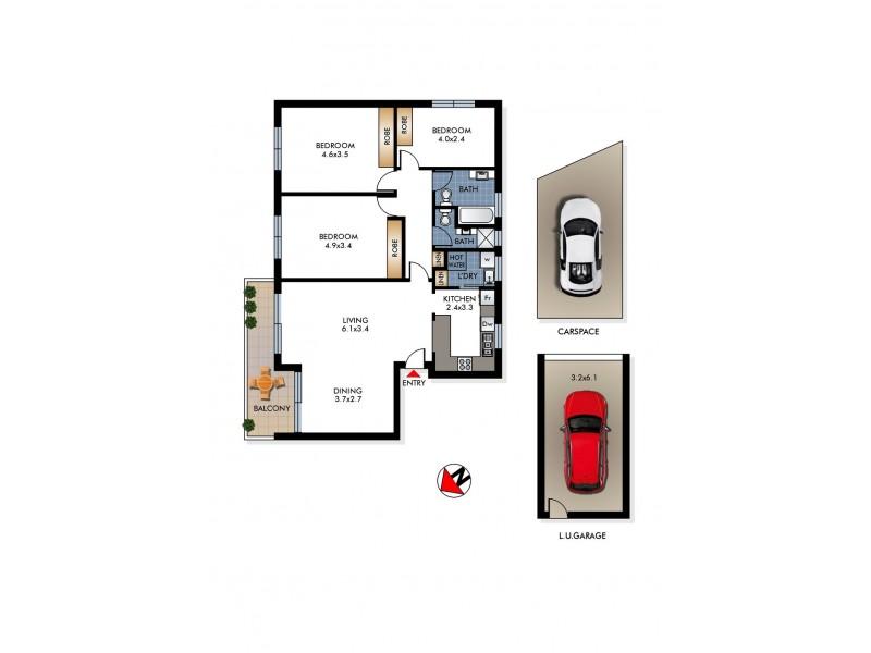 2/303 Old South Head Road (entry from Simpson Street), Bondi Beach NSW 2026 Floorplan