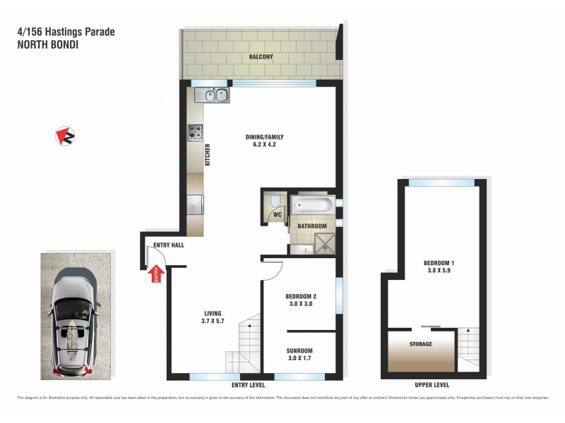4/156 Hastings Parade, North Bondi NSW 2026 Floorplan