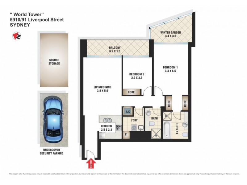 5910/91-93 Liverpool Street, Sydney NSW 2000 Floorplan